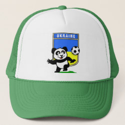 Trucker Hat with Ukraine Football Panda design