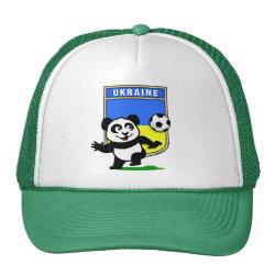Trucker Hat with Ukraine Football Panda design