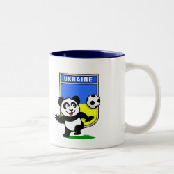 Two-Tone Mug with Ukraine Football Panda design