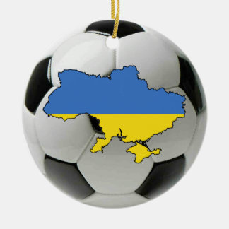 Ukraine football soccer ornament