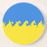 Ukraine Gnarly Flag Coaster