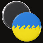 Ukraine Gnarly Flag Magnet