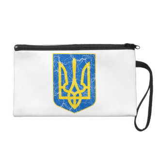 Ukraine Lesser Coat Of Arms Wristlet Purse