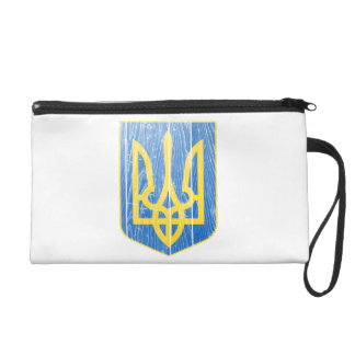 Ukraine Lesser Coat Of Arms Wristlet Purses