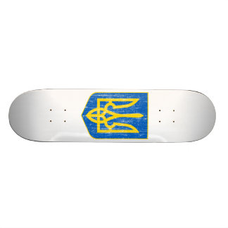 Ukraine Lesser Coat Of Arms Skate Boards