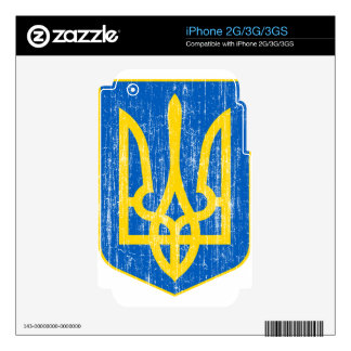 Ukraine Lesser Coat Of Arms Decals For The iPhone 3