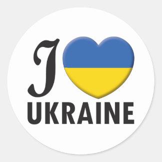 Ukraine Love Round Sticker