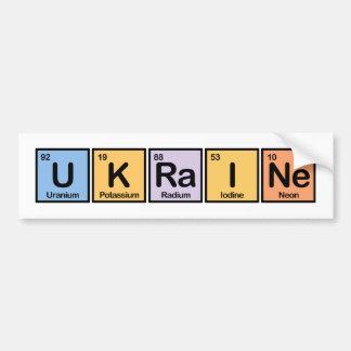 Ukraine made of Elements Bumper Sticker