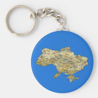 Ukraine Map Keychain