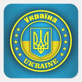 Ukraine Medallion Square Sticker