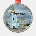 Ukraine Metal Ornament