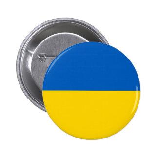 Ukraine National Flag Button