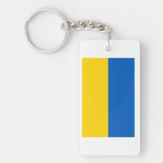 Ukraine National Flag Single-Sided Rectangular Acrylic Keychain