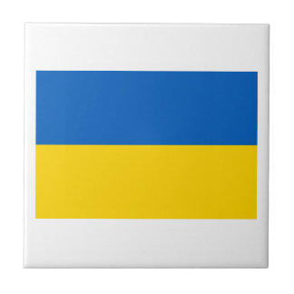 Ukraine National Flag Small Square Tile