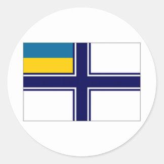 Ukraine Naval Ensign dress Flag Classic Round Sticker