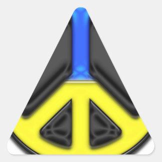 Ukraine Peace Triangle Sticker