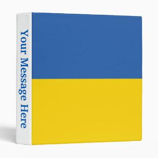 Ukraine Plain Flag Binder