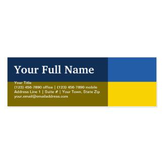 Ukraine Plain Flag Business Card Templates