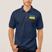 Ukraine Plain Flag Polo Shirt