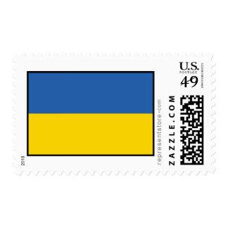 Ukraine Plain Flag Postage Stamps