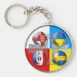 Ukraine Poland 2012 England France Sweden Ukraine Basic Round Button Keychain