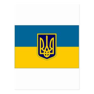 Ukraine President at sea Flag Postcard