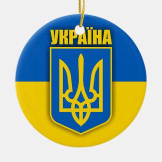 Ukraine Pride Ceramic Ornament