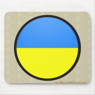 Ukraine quality Flag Circle Mouse Pad