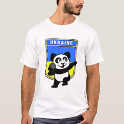 Men's Basic T-Shirt with Ukraine Shot Put Panda design
