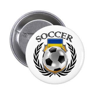 Ukraine Soccer 2016 Fan Gear Button