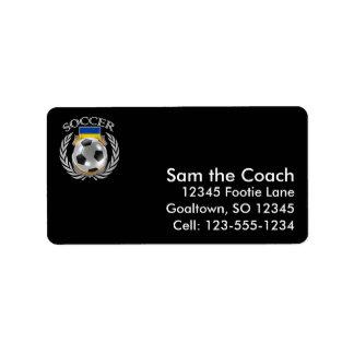 Ukraine Soccer 2016 Fan Gear Label
