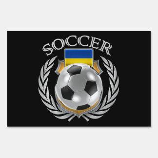 Ukraine Soccer 2016 Fan Gear Lawn Sign