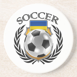 Ukraine Soccer 2016 Fan Gear Sandstone Coaster