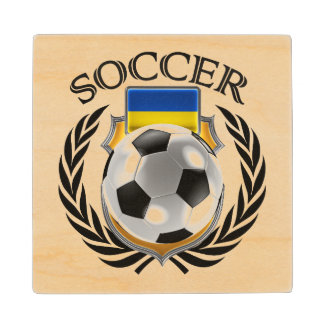 Ukraine Soccer 2016 Fan Gear Wooden Coaster