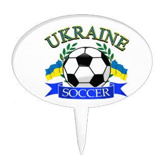 Ukraine soccer ball designs cake topper
