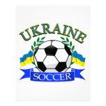Ukraine soccer ball designs letterhead