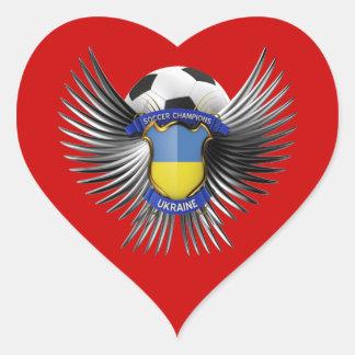 Ukraine Soccer Champions Heart Sticker