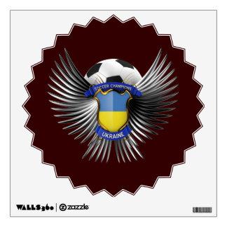 Ukraine Soccer Champions Wall Sticker