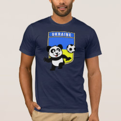 Men's Basic American Apparel T-Shirt with Ukraine Football Panda design