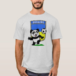 Men's Basic T-Shirt with Ukraine Football Panda design