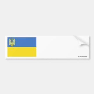 Ukraine Traditional Flag Car Bumper Sticker