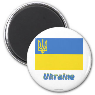 Ukraine Traditional Flag with Name Magnet