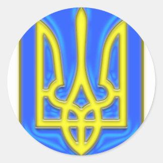 Ukraine Trident Classic Round Sticker