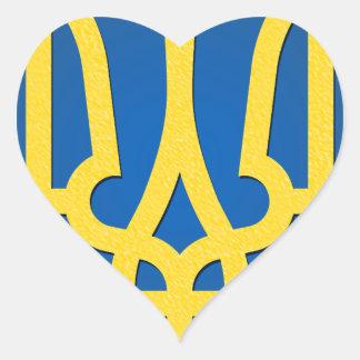 Ukraine Trident Heart Sticker