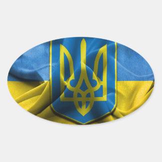 Ukraine Trident Oval Sticker