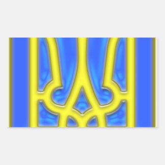 Ukraine Trident Rectangular Sticker