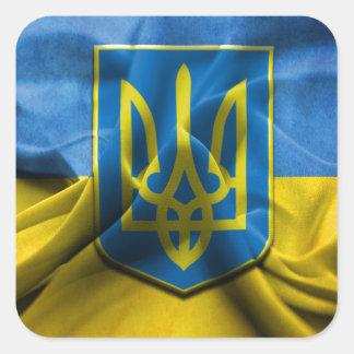 Ukraine Trident Square Sticker