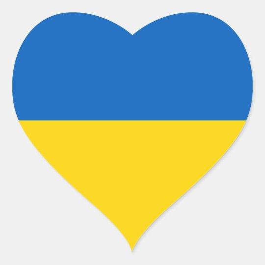 Ukraineukrainian Flag Heart Sticker Zazzle