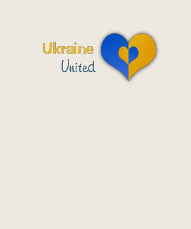 Ukraine United Heart (all sizes and colors) Tee Shirt