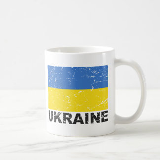 Ukraine Vintage Flag Coffee Mug